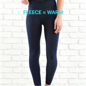 Pants - NEW Navy Fleece Leggings Pants Size Medium